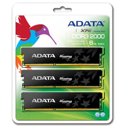 A-DATA XPG Gaming Series, DDR3, 2000 MHz, CL9, 6GB (2GB x 3) product.image.text.alttext back L