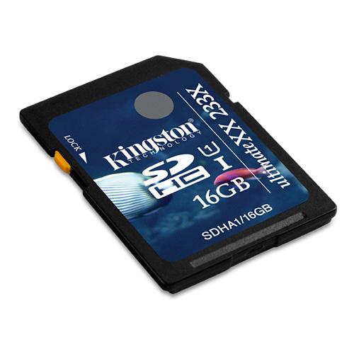 Kingston 16GB SDHC UltimateXX UHS-I product photo back L