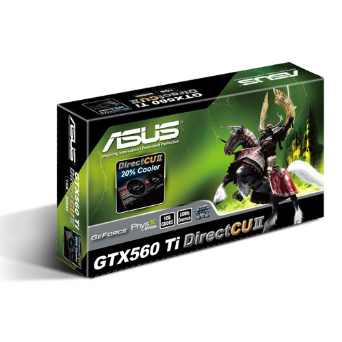 Asus PCI-E N ENGTX560 Ti DCII/2DI/1GD5 product photo side L