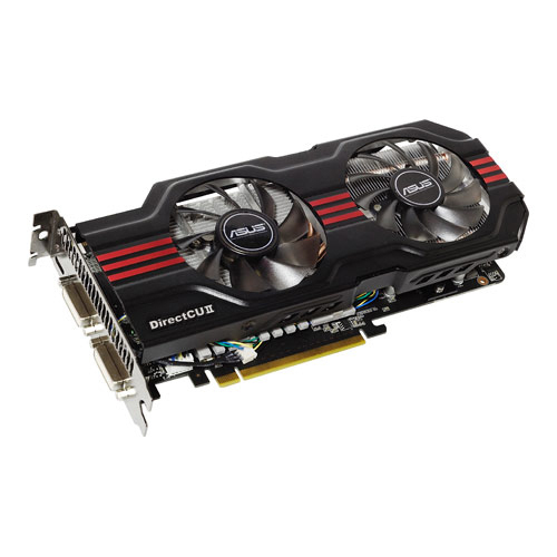 Asus PCI-E N ENGTX560 Ti DCII TOP/2DI/1GD5 product photo front L