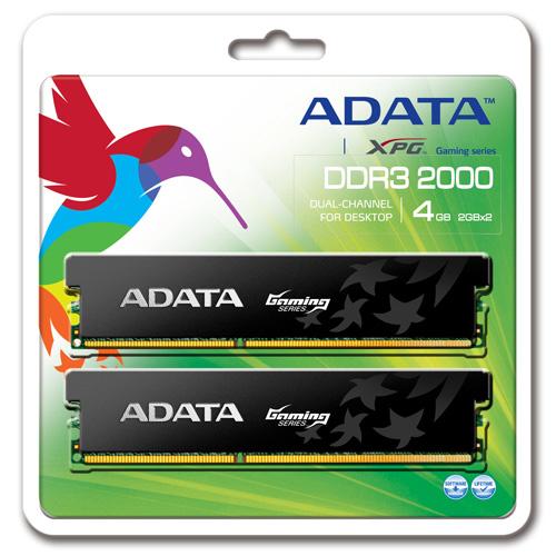 A-DATA XPG Gaming Series DDR3, 2000 MHz, CL9, 4GB (2GB x 2) product photo back L