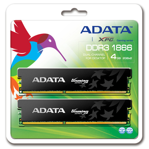 A-DATA XPG Gaming Series, DDR3, 1866MHz, CL9, 4GB (2GB x 2) product photo back L