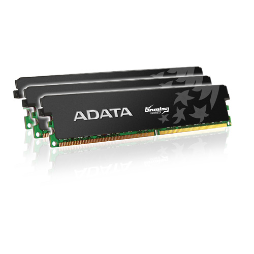 A-DATA XPG Gaming Series, DDR3, 1333 MHz, CL9, Low Voltage, 6GB (2GB x 3) product photo front L