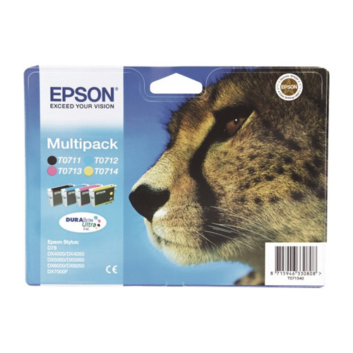 Epson Multipack 4-colours T0715 DURABrite Ultra Ink product photo front L