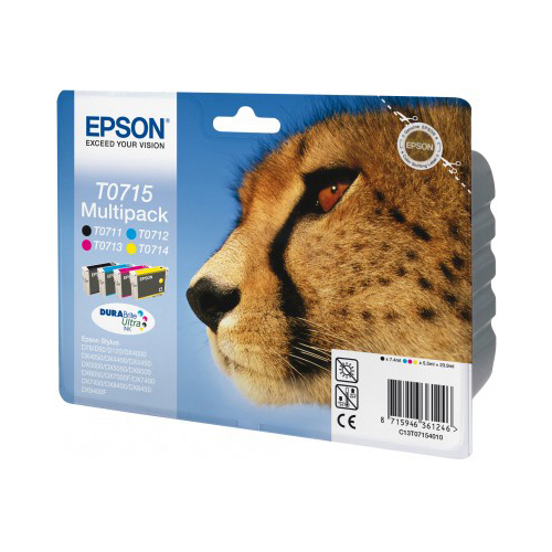 Epson Multipack 4-colours T0715 DURABrite Ultra Ink product photo back L