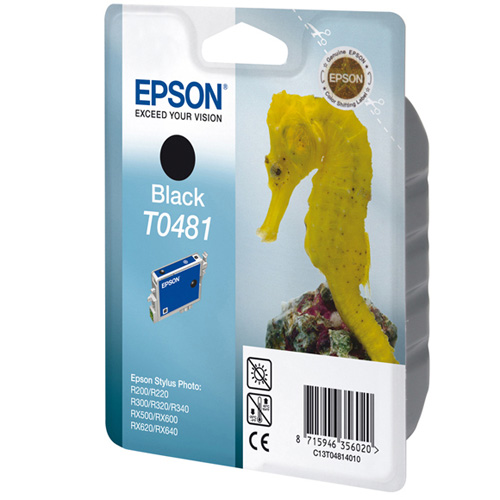 Epson Singlepack Black T0481 product photo front L