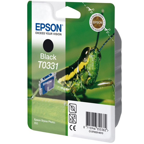 Epson Singlepack Black T0331 product photo front L