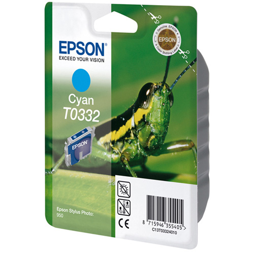 Epson Singlepack Cyan T0332 product photo front L