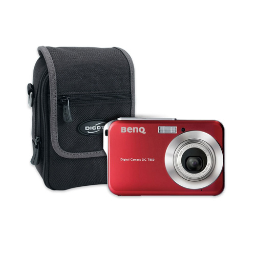 Benq T850 Red + Dicota CamPocket Zoom product photo front L