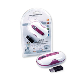 Conceptronic Stylish wireless 2.4 GHz Laser Mouse product photo