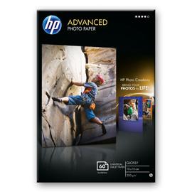 HP Advanced Soft-gloss Photo Paper Glossy Photo Paper-60 sht/10 x 15 cm borderless product photo