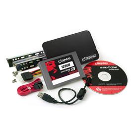 Kingston 128GB SSDNow V+100 Upg. Bundle Kit product photo