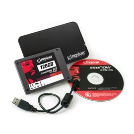 Kingston 128GB SSDNow V100 + Notebook Upg. Kit product photo