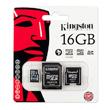 Kingston 16Gb microSDHC + 2 Adapters product photo back S