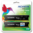 A-DATA XPG Gaming Series, DDR3, 1333 MHz, CL9, Low Voltage, 4GB (2GB x 2) product photo back S