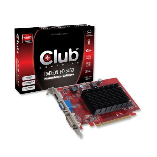CLUB3D Radeon HD 5450 Noiseless Edition photo du produit front L