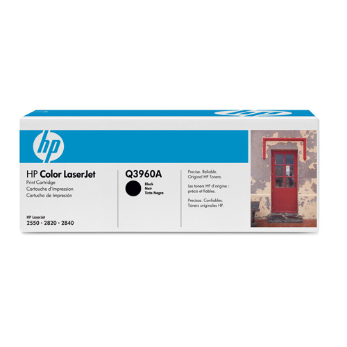 HP 122 LaserJet Printing Supplies 122A Black LaserJet Toner Cartridge photo du produit front L