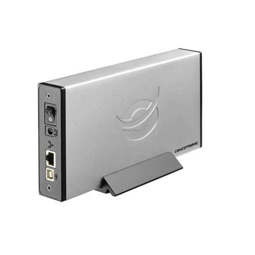 Conceptronic 3,5 inch Network (LAN) hard disk box photo du produit side L