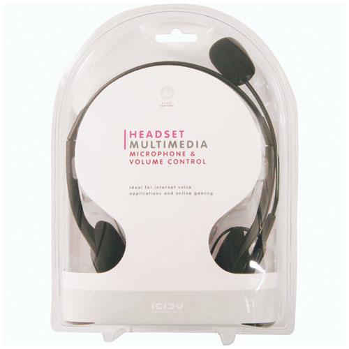 ICIDU Multimedia Headset With Microphone & Volume Control photo du produit back L