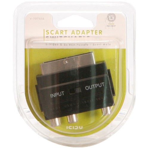 ICIDU Scart Audio / Video Adapter In / Out photo du produit back L