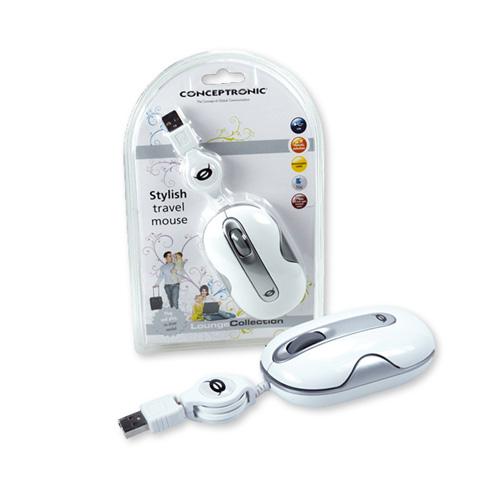 Conceptronic Stylish Wired Travel Mouse photo du produit front L