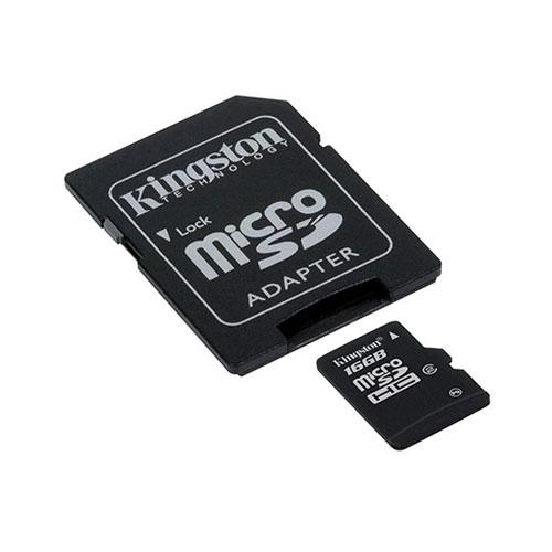Kingston 16GB microSDHC photo du produit front L