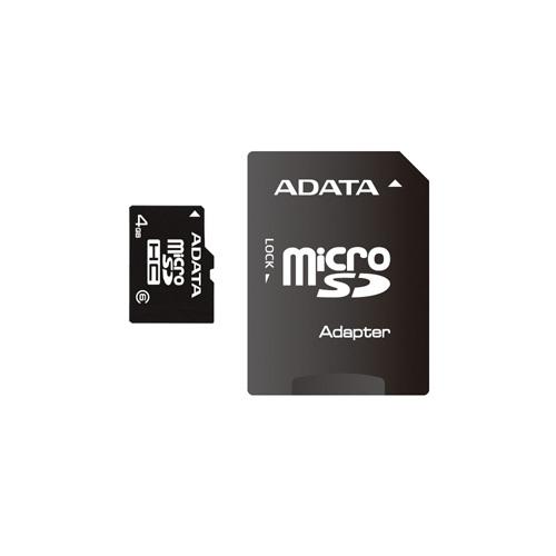 A-DATA microSDHC 4GB class6 photo du produit front L