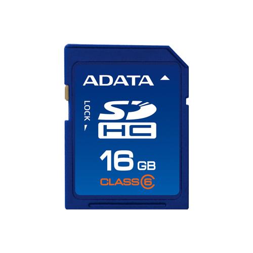 A-DATA SDHC 16GB class6 photo du produit front L
