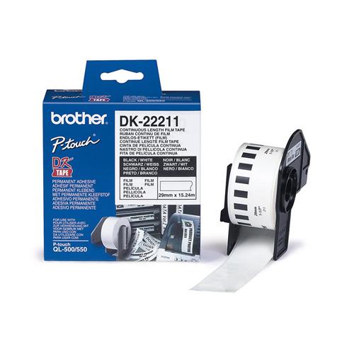Brother DK-22211 Continuous Wide Tape Film 29 mm photo du produit front L