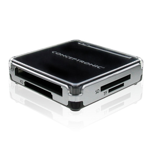 Conceptronic USB 2.0 All in One memory card reader/writer photo du produit back L