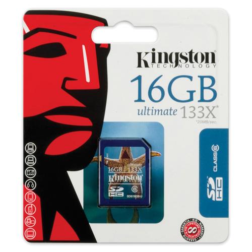 Kingston 16GB SDHC photo du produit back L