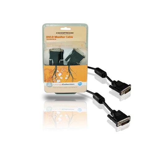 Conceptronic DVI-D 24 Pins Monitor Cable photo du produit side L