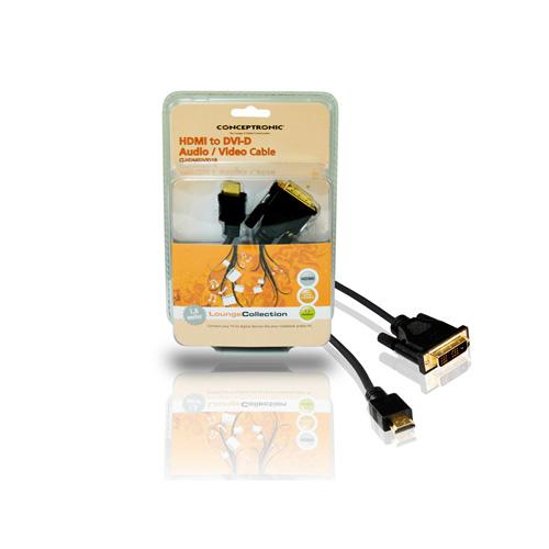 Conceptronic HDMI to DVI-D Audio / Video Cable photo du produit side L