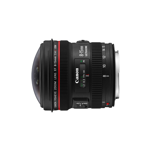 Canon EF 8-15mm f/4L Fish Eye USM photo du produit back L