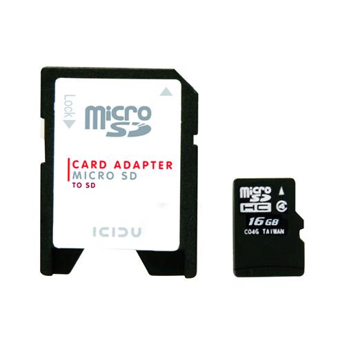 ICIDU Micro SDHC Card 16GB photo du produit front L