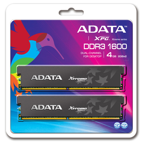 A-DATA XPG Xtreme Series, DDR3, 1600 MHz, CL7, 4GB (2GB x 2) photo du produit back L