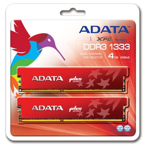 A-DATA XPG Plus Series, DDR3, 1333 MHz, CL8, 4GB (2GB x 2) photo du produit back L