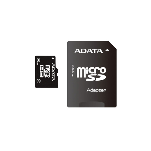 A-DATA 8GB microSDHC Class 10 photo du produit front L