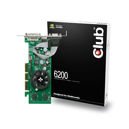 CLUB3D GeForce 6200 photo du produit front L