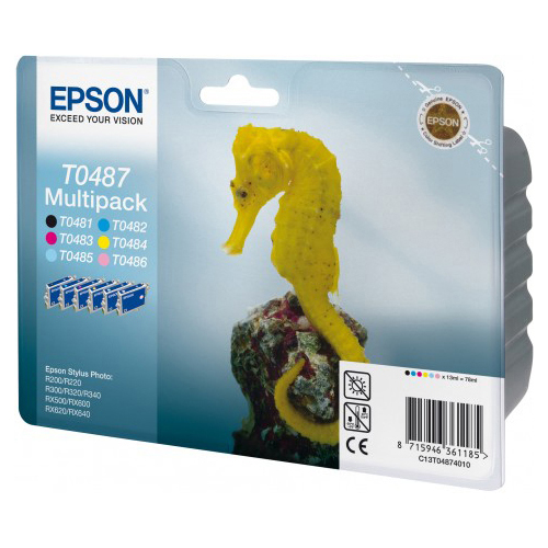 Epson Multipack 6-colours T0487 photo du produit side L