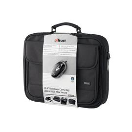 """Trust 15.4"""" Notebook Bag + Mini Mouse photo du produit"""