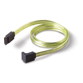 Belkin Serial ATA Cable - Right Angled,Yellow, 0.45m photo du produit