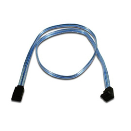 Belkin Serial ATA Cable - Right Angled, Blue, 0.45m photo du produit