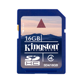 Kingston 16GB SDHC Card photo du produit